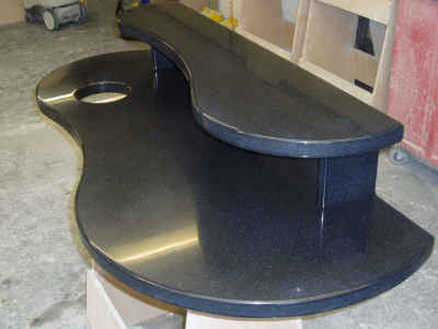 Black double worktop